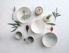 Beautiful ceramics by Sophie Harle Whiteware for Shiko.