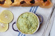 Warm Spinach and Artichoke Dip Recipe Appetizers with artichoke hearts, spinach, almond milk, cashew nuts, lemon, tahini, dried mixed herbs, salt, pepper