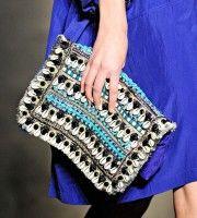 Matthew Williamson Spring 2012  #diy #blue #clutch #fashion