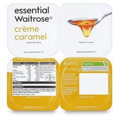 Ocado: French Creme Caramel essential Waitrose 4 x 100g(Product Information)