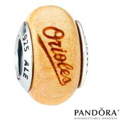 Baltimore Orioles MLB Logo Wood Charm by PANDORA® Jewelry - MLB.com Shop