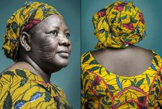 """""""Hââbrê"""",latest generation of scarification in Africa. Pictures byJoana Choumali"""