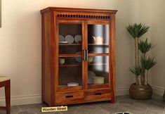 Crockery Unit: Buy Wooden Crockery Cabinet Online Upto OFF Small Kitchen Cabinets, Buy Kitchen, Wooden Kitchen, Crockery Cabinet, China Cabinet, Crockery Units, Wooden Street, Units Online