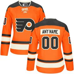 Women's Custom Philadelphia Flyers Orange Premier Alternate Customized Ice Hockey Jersey Size 2XL. Material: 100% Polyester,Machine wash. Jerseys as the picture shows, Custom Ordering Info: the Name and/or Number you'd like on the back of your shirt (Max 12 Characters). the processing time is about 5 days to prepare your order.shipping time is 7-15 days. Personalized name and number in single-layer, printed twill are heat-pressed onto the back and sleeves. Customized items are final sale…