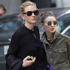 Cate & Rooney on the street. Cate doesn't seem too happy with the paps this time #cateblanchett #rooneymara #ifonlyitwastrue #caterooneylove