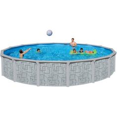 Coleman 22 x52 power steel frame above ground swimming pool set doesn 39 t for Heritage above ground swimming pools