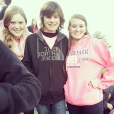Chandler Riggs with fans.