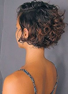 Short Curly Hairstyles For Women, Haircuts For Curly Hair, Short Wavy Hair, Short Hair With Layers, Curly Hair Tips, Curly Bob Hairstyles, Curly Hair Styles, Hair Beauty, Perms