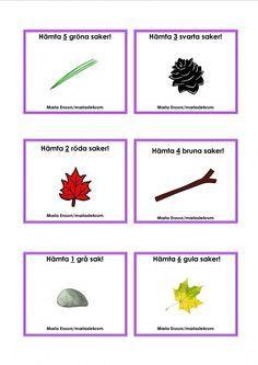 Uppdragskort-Skogen/matematik Outdoor Activities For Kids, Nature Activities, Math For Kids, Toddler Activities, Preschool Math, Kindergarten Teachers, Sign Language Book, Learn Swedish, Swedish Language