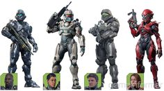 The Halo Guardians Cover Story Character Design References, Game Character, Unsc Halo, Combat Suit, Halo Spartan, African Paintings, Halo 5, Red Vs Blue, Alien Creatures