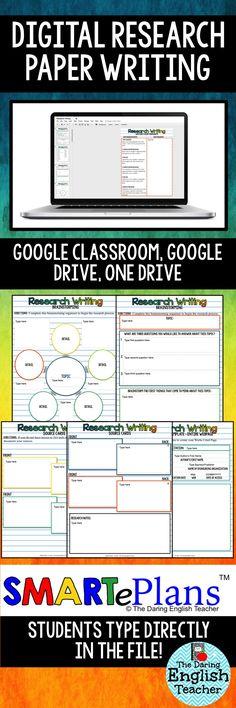 Digital Research Paper Writing Unit. High School English. Middle School English. Google Classroom.