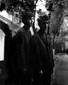 Paul McCartney and George Harrison © Astrid Kirchherr
