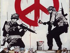 Banksy, Stencil Art, Stencils, Army, Darth Vader, Blog, Peace, Fictional Characters, Posters