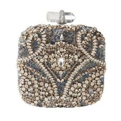 Oh to dream....  Marchesa Square Embroidered Clutch. Victorian in its delicacy and intricacy, this stunning Swarovski crystal-embellished embroidered evening bag is the perfect companion to a simple column gown. $3,495.00