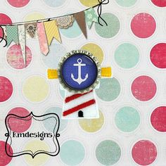 Bottle cap Lighthouse feltie ITH Embroidery design file