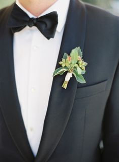 Boutonnieres don't need to have flowers!