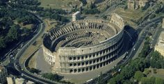 the colosseum, rome, Begun between AD 70- 72, the Colosseum could seat 50,000 people and measured 620 by 513 feet.
