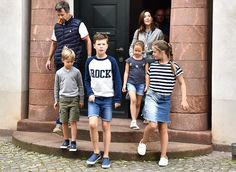 On August 8, 2017, Crown Prince Frederik, Crown Princess Mary, Prince Christian, Princess Isabella, Prince Vincent and Princess Josephine visited the Faaborg Museum as part of their private holiday. Princess Mary wore a printed silk-crepe dress by SEA.