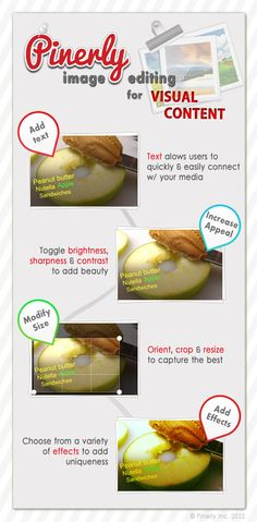 Pinerly Image Editing for Visual Content #Pinterest