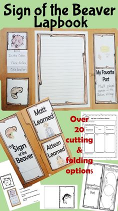 Wrap up your Novel Study with this Sign of the Beaver Lapbook. Use a file folder or construction paper as a base. Print the file and go. Lots of cutables and foldables to choose from. After reading the book students will use a graphic organizer to help organize their thoughts. Then they will choose the cutables and/or foldables they wish to use. Next write their report and finally show off their great looking lapbook.