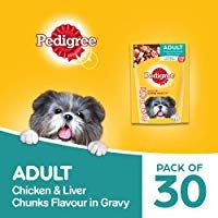 Pedigree Adult Wet Dog Food Chicken Liver Chunks In Gravy 30