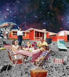 Тихая жизнь на Луне  (люди всегда мечтают о тихих местечках на Земле, разглядывают фотографии с одинокими домиками в горах и т.п.)
