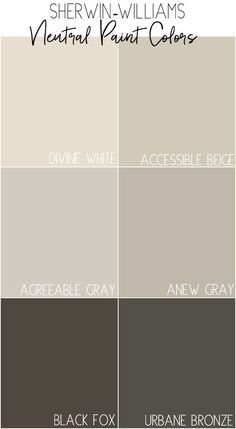Sherwin-Williams Neutral Paint Colors - with description and photos of how the colors look at home