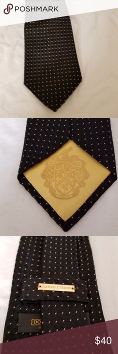 Donald J. Trump Signature Collection For your consideration:  Donald J. Trump Signature Collection Black With Gold Dots Tie Donald J. Trump Accessories Ties