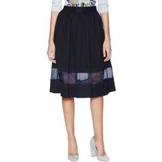 Paul & Joe Sister Arlette Pleated Midi Skirt ($229) ❤ liked on Polyvore featuring skirts, pleated skirt, pleated midi skirt, calf length skirts, mid-calf skirt and evening skirts