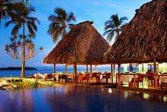 Nadi, Fiji. The Westin hotel. View from Moo Moo Wine and Bar Grill.