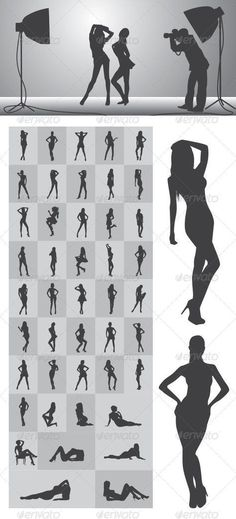 Girl Silhouettes Nice and High Detail Silhouettes. in this items onsists of : Ai ( open with adobe illustrator ) EPS ( open with adobe illustrator or applications that supports eps file ) PNG ( open with adobe photoshop ) SVG ( open with ink Picture Poses, Photo Poses, Photo Shoots, Picture Ideas, Photography 101, Portrait Photography, Boudoir Photography Poses, Silhouette Photography, Ideas Para Photoshoot