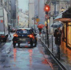 In the city #3 | oil on linen painting by Richard van Mensvoort