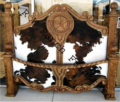 The cowhide Texas bed I spied in Canton, Texas Trade Days I want very soon!