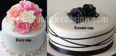 Sharp edge vs rounded edge on cakes