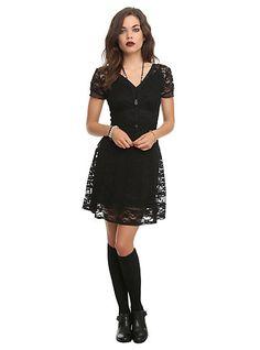 Royal Bones Black Lace DressRoyal Bones Black Lace Dress,