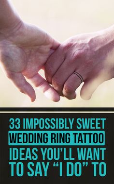 """33 Impossibly Sweet Wedding Ring Tattoo Ideas You'll Want To Say """"I Do"""" To"""