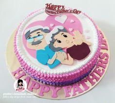 ♡ Happy Parents Day ♡ Design Fresh Cream Cake