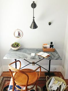 simple, clean desk vignette