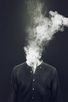 Painkiller by Elias Klingén, via Behance  smoke photography compositing composite dark black white