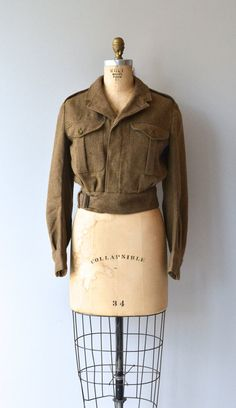 British Canadian wool military jacket 1940s wool by DearGolden