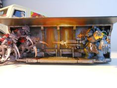Diorama, Space Hulk, Space Marines, Space Wolves