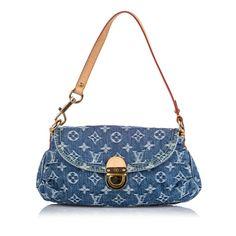Pre-Owned Louis Vuitton Monogram Denim Mini Pleaty In Blue Louis Vuitton Vintage, Pre Owned Louis Vuitton, Louis Vuitton Handbags, Louis Vuitton Monogram, Denim Mini, Denim Bag, Vintage Bags, Vintage Handbags, Aesthetic Bags