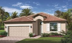 CAPRI New Home Plan in The Forum by Lennar - Elevation 'A'