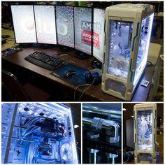 Sweet! Love the monitor setup!