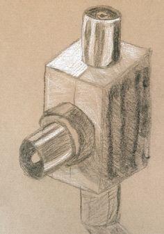 Miguel Ferreira. Carvão e pastel branco s/ papel kraft, 42 x 29,7 cm