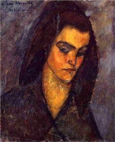Amedeo Modigliani (1884 -1920) | Expressionism | Beggar Woman - 1909