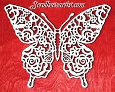 Scroll Saw Patterns :: Animals & Insects :: Butterflies & Dragonflies :: Lace butterfly -