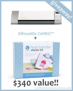 Silhouette CAMEO Giveaway + Discount! use code: CRAFT to get 80$ off CAMEO + Heat Transfer bundle