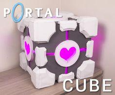 Companion Cube Storage Box — Made with Foam