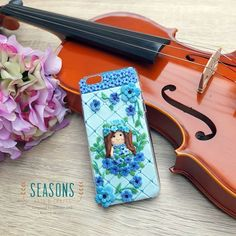 A girl with the magical blue flower is poured in #iphone6 #decocase. Special handmade for a lovely girl to celebrate her special moment :) #flowergirl #flowerclay #customdecocase #claycraft #clayart #handmadeclay #handmadedecocase #casehp #clayjakarta #jualclay #jualdecocase